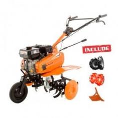 Motosapa Dac 7000ACC1 + roti cauciuc + roti met 300 fara manicot + rarita ajustabila - Motocultor Ruris