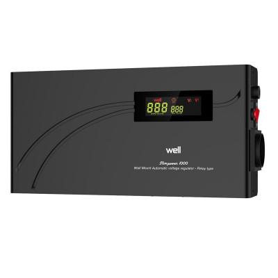 Stabilizator automat de tensiune cu releu Well, 1000VA/600W foto