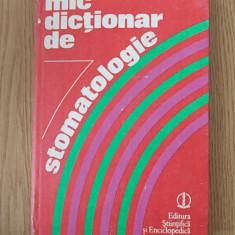 MIC DICTIONAR DE STOMATOLOGIE- MEMET, RADU, STANCIU