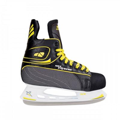 NIls Patine hockey negru/galben NH8556S foto