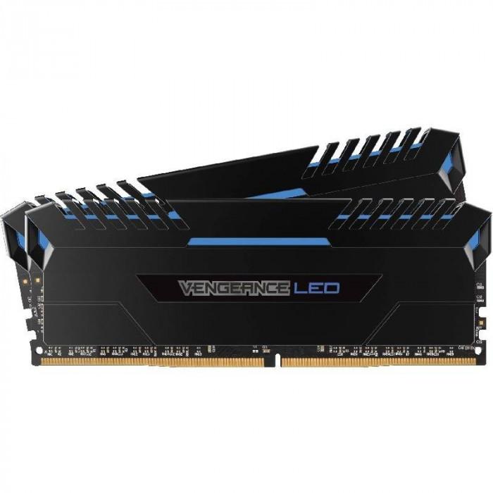 Memorie Corsair Vengeance Blue LED 32GB DDR4 3200MHz CL16 Dual Channel Kit foto mare