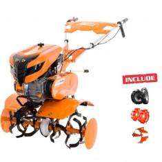 Motosapa Ruris 701KS + roti cauc + plug reversibil Rev1 + roti met 400 fara manicot - Motocultor