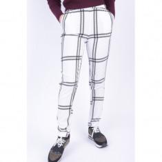 Pantaloni Casual Object Hope Check Alb - Pantaloni gravide