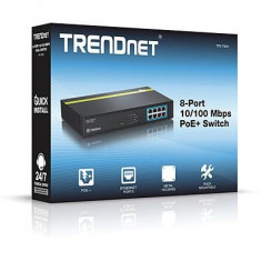 TD 8-PORT 10/100 Mbps PoE+ SWITCH - Router wireless Trendnet