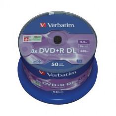 "DVD+R Verbatim DL 8X 8.5GB 50PK SPINDLE ""43758"""
