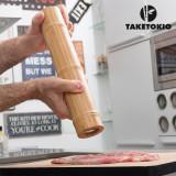 Râșniță de Sare și Piper Bamboo TakeTokio