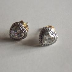Cercei din argint Pandora -290568CZ-sparkling love - Cercei argint