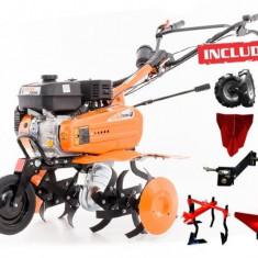Motosapa Dac 7009ACC roti cauciuc + 2 rarite + cultivator + plug + adaptor - Motocultor Ruris