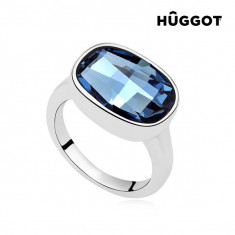 Inel Placat cu Rodiu I´m Blue Hûggot Creat cu Cristale Swarovski® - Inel fashion
