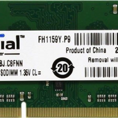 Memorie 4GB DDR3 SODIMM Laptop, Crucial