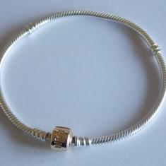Bratara din argint si inchizatoare din aur de 14k Pandora -590702HG-20 cm - Bratara argint