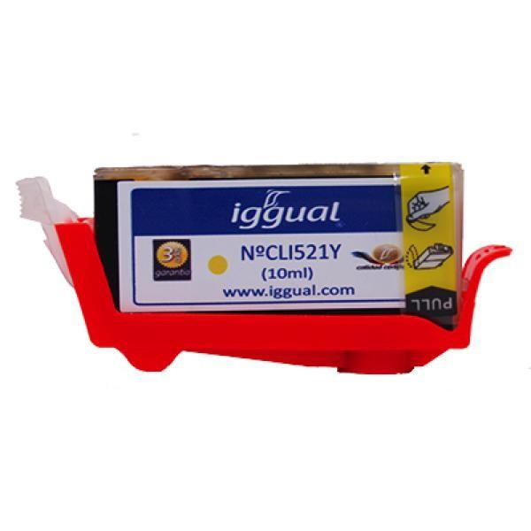 Cartuș de Cerneală Reciclată iggual Canon PSICLI521Y Galben
