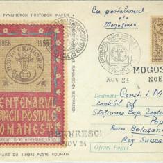 AMS - PLIC COMEMORATIV CENTENARUL MARCII POSTALE 1858-1958 STAMPILE SPECIALE