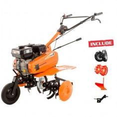 Motosapa Dac 7000ACC2 + roti cauciuc +roti met 300 fara manicot + plug + adaptor - Motocultor Ruris