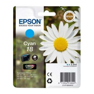 Cartuș cu Cerneală Originală Epson C13T18024010 Cyan foto
