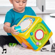 Cub de Activități cu Lumină și Sunet pentru Copii - Jocuri Forme si culori