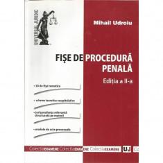 Fise de procedura penala (Editia a II-a) - Mihai Udroiu - Carte Drept penal