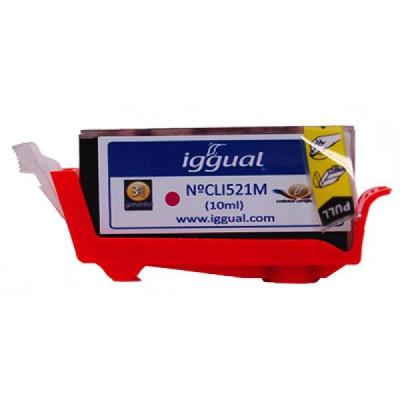 Cartuș de Cerneală Reciclată iggual Canon PSICLI521M Magenta foto