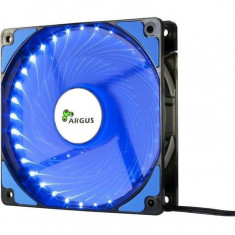 Ventilator Inter-Tech Argus L-12025-BL , 120 mm , 1200 RPM , LED Albastru