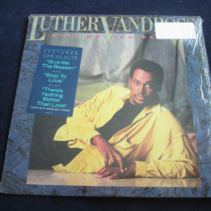 Luther Vandross - Give Me The Reason _ vinyl, LP, album _ Epic (SUA) - Muzica R&B Epic rec, VINIL