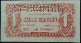 Bancnota 1  KORONU- CEHOSLOVACIA OCUPATIE SOVIETICA, 1944*cod 227 SPECIMEN - UNC