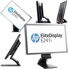 Monitor 24 inch LED, IPS, HP EliteDisplay E241i, Silver & Black