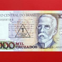 BRAZILIA - 1 Cruzado Novo 1989 - UNC - bancnota america