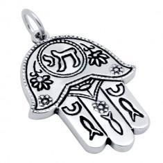 Pandantiv argint 925 cu Hamsa Mana lui Fatima