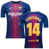 Tricou  FC BARCELONA 14 COUTINHO MODEL NOU 2017/2018, XS, Tricou fotbal