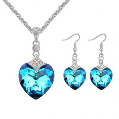 Set bijuterii Blue Reinbow - Set Swarovski