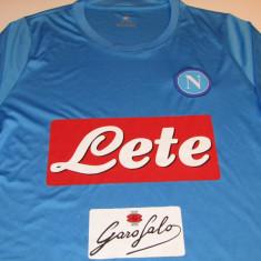 Tricou fotbal - SSC NAPOLI (Italia) - Tricou echipa fotbal, Marime: M, Culoare: Din imagine, De club, Maneca scurta