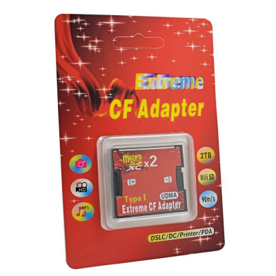 Adaptor Dual Card Micro Sd la CF Card Compact Flash foto