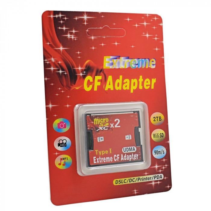 Adaptor Dual Card Micro Sd la CF Card Compact Flash