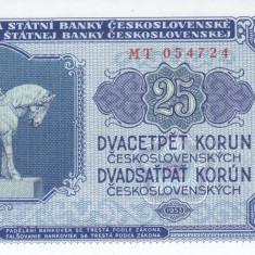 Bancnota Cehoslovacia 25 Korun 1953 - P84b UNC - bancnota europa