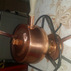 Vas din cupru, cu arzator - Metal/Fonta, Vase