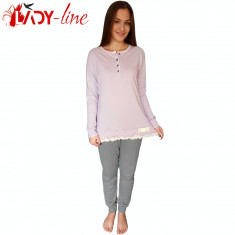Pijamale Dama Maneca/Pantalon Lung, Spring Of Lilac, Cod 1723