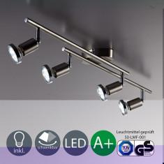 Plafonier metalic, led nichel mat 12 wats, A+