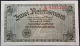 Bancnota 2 REICHSMARK - GERMANIA NAZISTA, anul 1940  *cod 229  (rara in XF+)