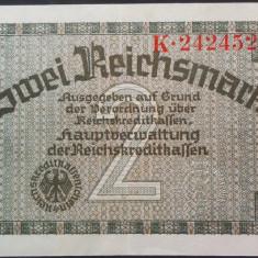 Bancnota 2 REICHSMARK - GERMANIA NAZISTA, anul 1940 *cod 229 (rara in XF+) - bancnota europa