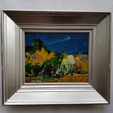 MARCEL PAVEL - PICTOR , GRAFICIAN IESEAN - PEISAJ - ulei/carton, Peisaje, Abstract