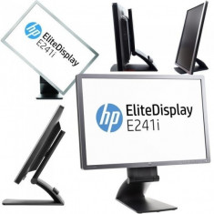 Monitor 24 inch LED, IPS, HP EliteDisplay E241i, Silver & Black, Panou Grad B