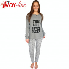 Pijamale Dama Maneca/Pantalon Lung, This Girl Love Sleep, Cod 1725