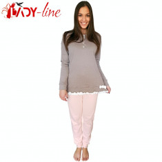Pijamale Dama Maneca/Pantalon Lung, Nostagic Beauty, Cod 1722
