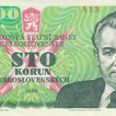 Bancnota Cehoslovacia 100 Koruna 1989 - P97 UNC - bancnota europa