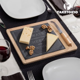 Planșetă pentru Brânză din Bambus cu Ardezie TakeTokio (2 piese)