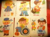 10 Cartonase vechi pt copii - de colorat ,h= 18 cm ,unele colorate