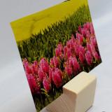 Suport foto lemn masiv de pin finisat si polisat