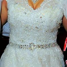 Rochie de mireasă de vânzare., Marime: S/M, Culoare: Argintiu
