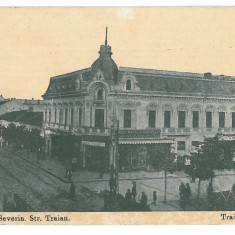 1381 - TURNU-SEVERIN, Romania, Traian street - old postcard, CENSOR - used  1918