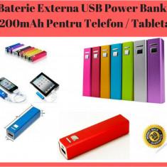 Baterie externă USB Power Bank 2200mAh - iPhone, iPod, Samsung, Blackberry, etc